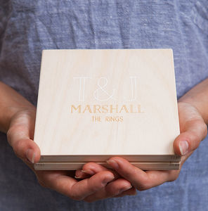 Personalised Initials Wedding Ring Box