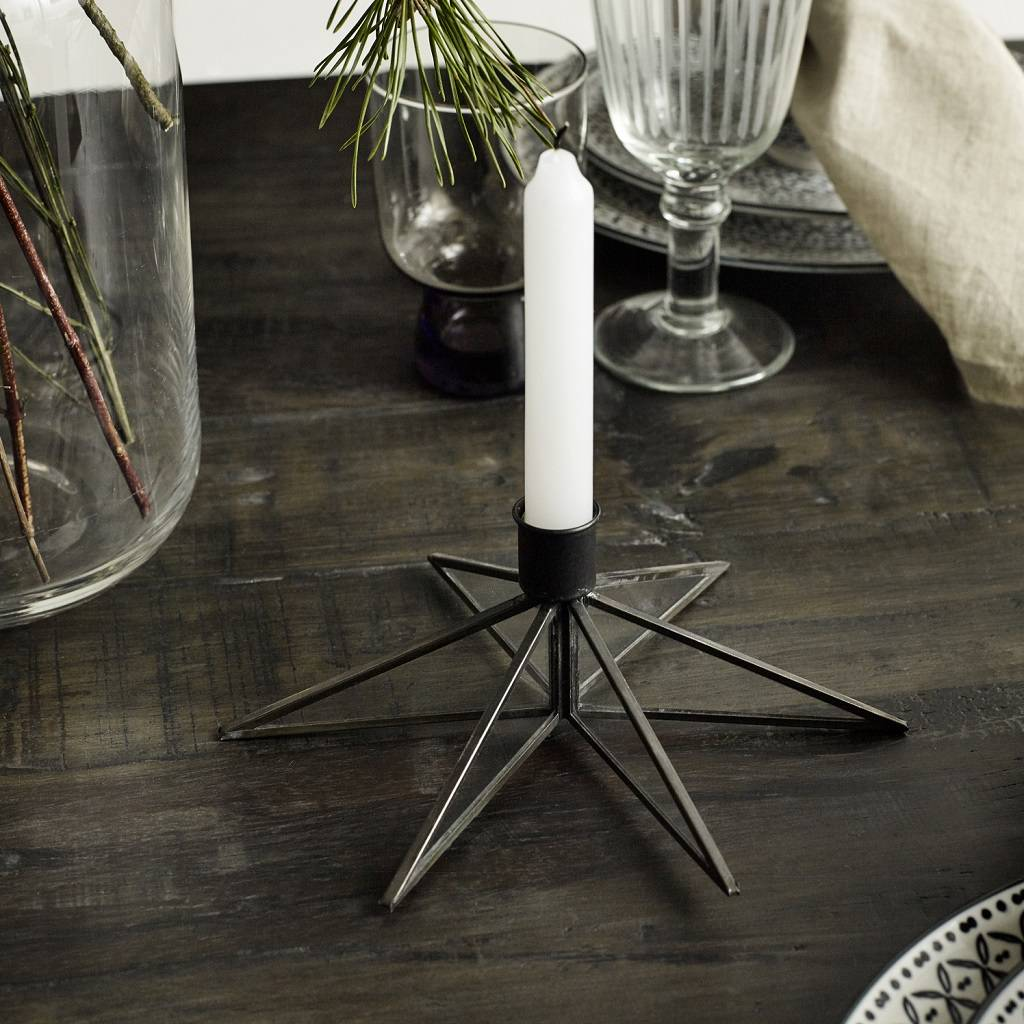 Star Shaped Candle Holder
