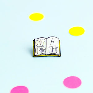 25mm Once Upon A Time Book Lovers Gift Enamel Pin Badge