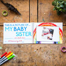 Personalised My Baby Sister Keepsake Activity Pack