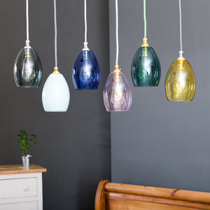 Bertie Mini Coloured Glass Pendant Light - pendant lights