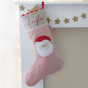 Personalised Santa Christmas Stocking - stockings & sacks