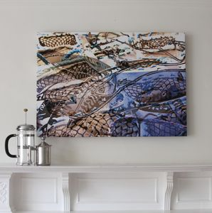 Contemporary Coastal Artwork On Canvas - modern & abstract