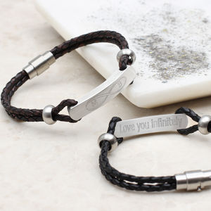 Mens's Infinity And Secret Message ID Bracelet - new in jewellery