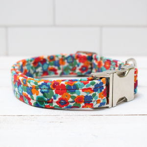 Shlee Liberty Fabric Dog Collar - pet collars