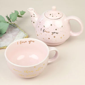 'I Love You' Tea For One Teapot Set