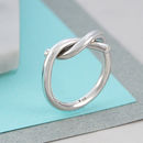 Sterling Silver Twist Infinity Ring