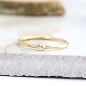 Hale, 18ct Gold Diamond Stack Ring - rings