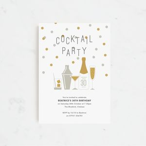 20 Cocktail Party Personalised Invitations