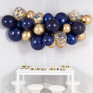 Midnight Blue Balloon Cloud Kit - decoration