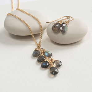 Labradorite Briolette Set - women's jewellery