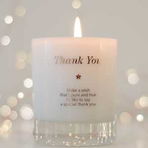 Thank You Scented Candle - thank you gifts