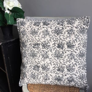 Faded Cotton Cushion - new in home