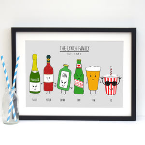 Personalised Family Print - family & home