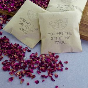 Gin Botanicals Infusion Wedding Favours - edible favours