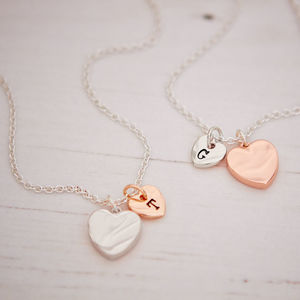 Personalised Rose Gold Or Silver Plated Heart Necklace - necklaces & pendants