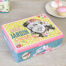 Personalised Retro Six Section Tea Box