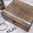 Personalised Large Wooden Jewellery Box