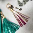 Two Tone Swinbrook Tassel Keyring