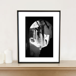 Silhouette, Medina, Fes, Morocco, Signed Art Print - architecture & buildings