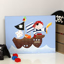 Personalised Pirate Canvas, Hand Painted