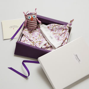 New Baby Girl Gift Set And Card