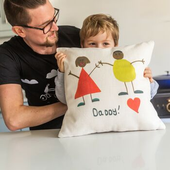 Personalised Fathers Day Child's Drawing Cushion