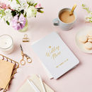 Personalised Wedding Plans Foiled Notebook