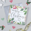 Glitter Leaf Christmas Card