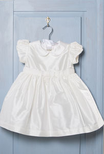 Silk Isabelle Christening Dress And Nappy Pants - dresses