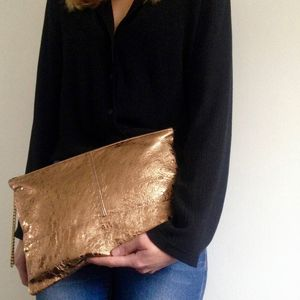 Portfolio Leather Clutch Bag - clutch bags