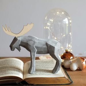 Concrete Reindeer Ornament Decoration