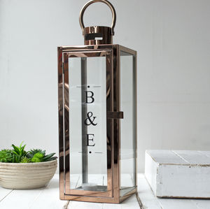 Extra Large Copper Lantern - personalised