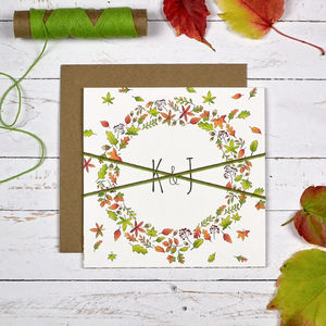 Autumn Leaves Wedding Invitation - invitations