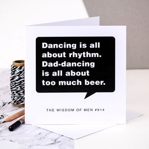 Birthday Card For Men 'Dad Dancing'