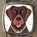 Brown Labrador Dog Compact Mirror