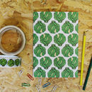 Christmas Brussel Sprout A5 Notebook With Blank Pages