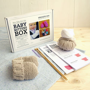 Baby Mittens Beginner's Knitting Kit - babies' gloves