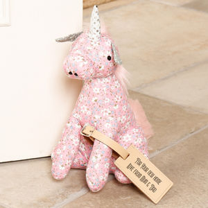 Novelty Fairy Tale Unicorn Fabric Doorstop - door stops & draught excluders