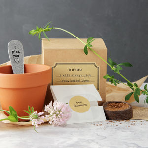 Personalised 'I Pick You' Plant Set - gardening