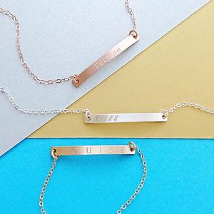 Skinny Personalised Reversible Bar Bracelet