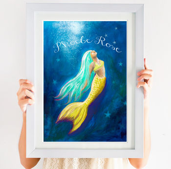 Mermaid Personalised Print