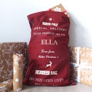New Personalised Red North Pole Christmas Sack