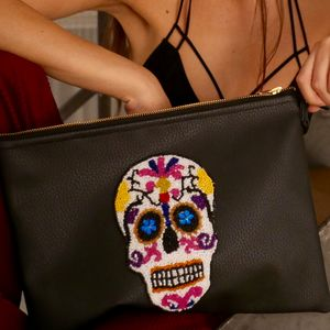 Sugar Skull Clutch - jewellery & accessories