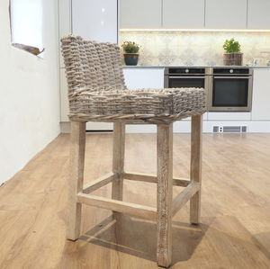 Rattan Counter Stool Choose From Two Cushion Colours