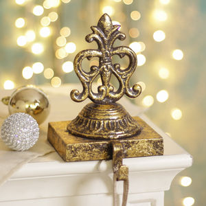 Golden Ornate Stocking Holder