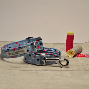 Blue Dog Collar And Lead Set For Girl Or Boy Dogs - clothes