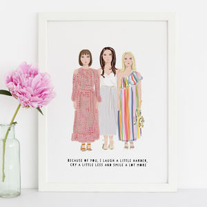 Personalised Friend Portrait Illustration - new gifts for her