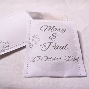Paper Doily Wedding Favour Tea Pack Of 10 - edible favours