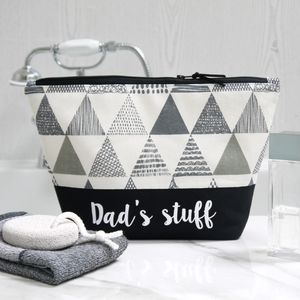 Personalised Triangle Design Wash Bag